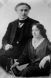 Houdini and his wife Bess