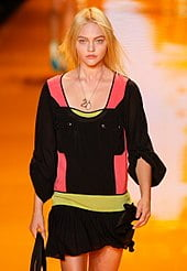 Sasha Pivovarova in DKNY by Donna Karan