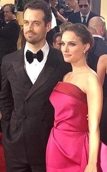 Portman with husband Benjamin Millepied in 2012