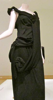 Yohji Yamamoto polyester gown 1998